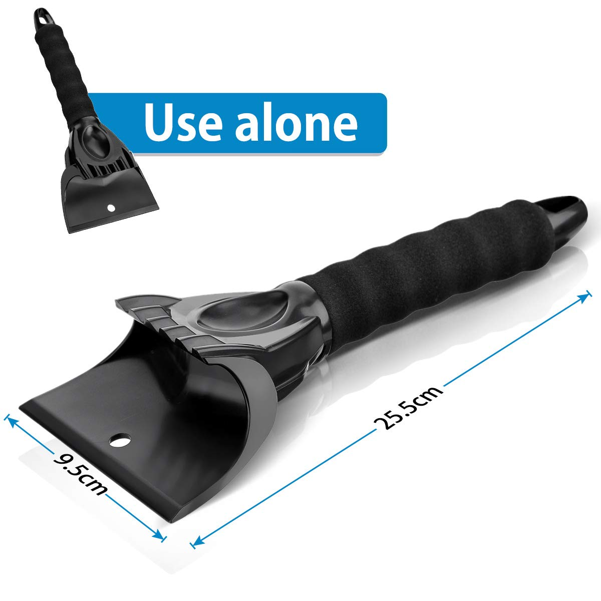 Ice Scraper with Separable Glove Black